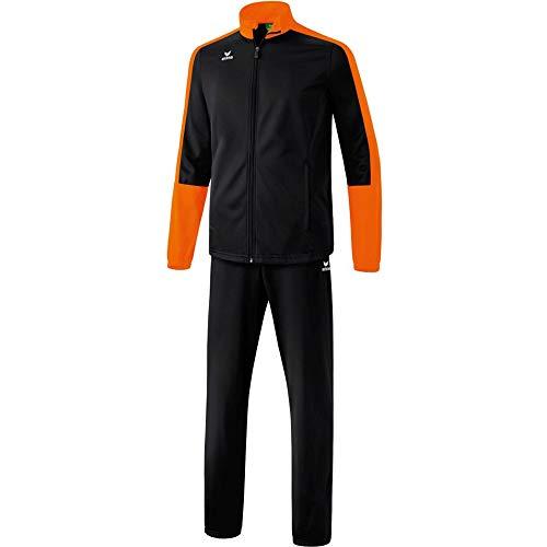 Erima Herren Toronto 2.0 Polyesteranzug, schwarz/Orange, XXL