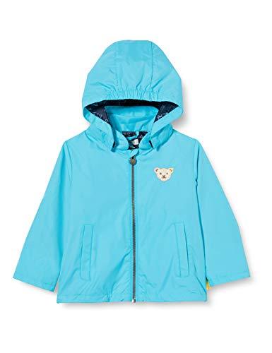 Steiff Baby-Jungen Regenjacke Jacke, Türkis (Blue Atoll 6041), 80 (Herstellergröße: 080)