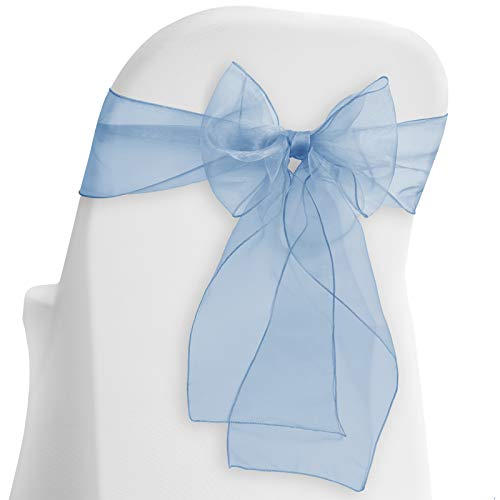 Lann's Linens - 10 Elegant Organza Wedding/Party Chair Cover Sashes/Bows - Ribbon Tie Back Sash - Chocolate Brown