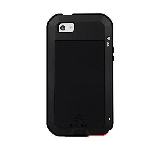 VicTop Gorilla - Cover antiurto, impermeabile, resistente allo sporco, in metallo, per Apple iPhone 5C, nero, iPhone 5c