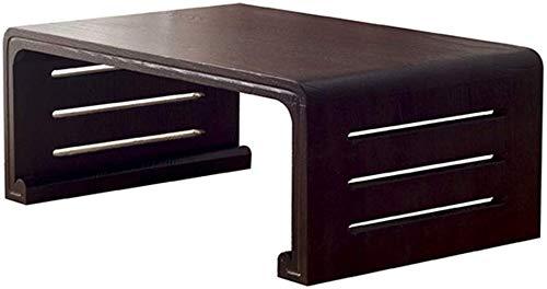 Beistelltisch Couchtische Antique Tableside Gartenmöbel Japanischen Einfaches Massivholz Fenster Tabellen-Bett Balkon Schwarz Small Paulownia (Color : Black, Size : 60 * 40 * 30cm)