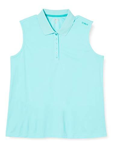 CMP Damen Einfarbiges Ärmelloses Poloshirt, Giada, 46
