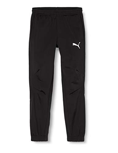 PUMA Kinder Liga Sideline Poly Pant Core J Hose, Black White, 176