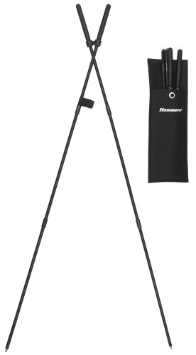 Hammers 39' bungee corded collapsible shooting stick stiX bipod,black,9MM