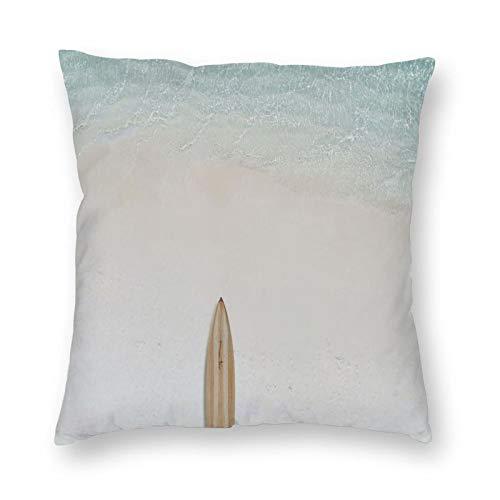 FULIYA Fundas de cojín de 45 x 45 cm, 1 paquete de fundas de almohada, suaves fundas de almohada cuadradas para sala de estar, sofá cama, sillas, coche, tabla de surf, playa, mar, agua, minimalismo.