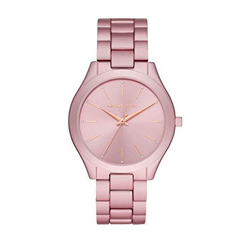 Michael Kors Damen Analog Quarz Uhr mit Aluminium Armband MK4456