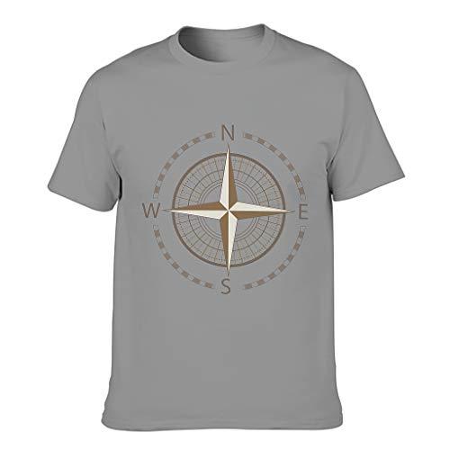 Camisetas de algodón dorado brújula para hombre – Nautical Elements Vintage Out Top