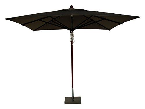 Maffei Art 153Q Timbers Parasol carré cm. 300X300. Fabriqué en Italie. Couleur Taupe
