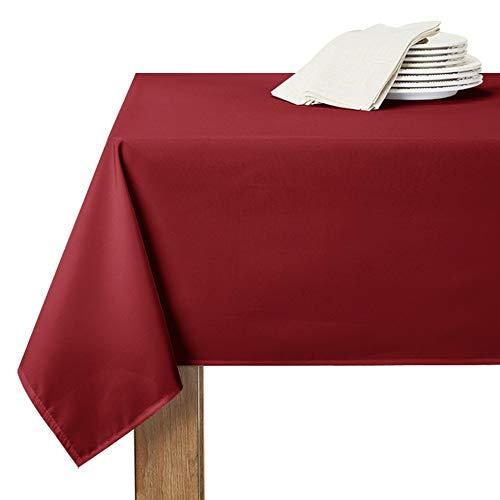RYB HOME Nappe Anniversaire Fille - 150 x 260 cm, Rouge Bordeaux Decoration Noel Imperméable...