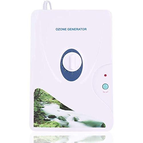 WRJ Generador De Ozono Ozonizador Purificador De Aire 600Mg / H Carne Aceite Vegetal Fresca Casa De Agua Limpia Esterilizador Multifuncional para La Limpieza del Hogar De La Fruta,Blanco