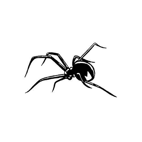 Jinling - Pegatina de vinilo para coche (17,8 x 10,3 cm), diseño de araña, color negro y plateado
