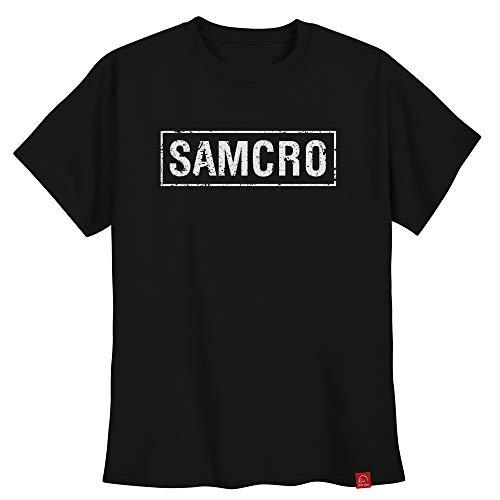 Camiseta Sons Of Anarchy Soa Samcro Frente Brasão Costas XGG