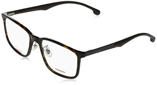Carrera Full Rim Rectangle Mens Spectacle Frame - (CARRERA 8840/G 086 5519|145) bronze-tone Carbon Fiber temples lined with Megol rubber