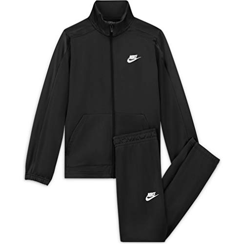 Nike Unisex-Kinder U NSW HBR Poly Tracksuit Trainingsanzug, Black/Black/(White), L