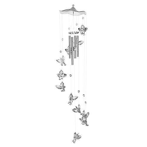 Vektenxi Butterfly Bell Windspiele Home Yard Garden Hanging Decor Silber Kreativ und nützlich