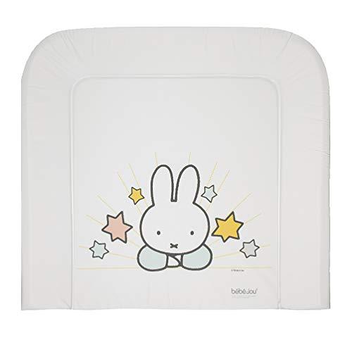 bébé-jou 6802120 Wickelauflage 3K Miffy, weiß