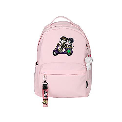 ZZGOO-LL JoJo's Bizarre Adventure Jonathan Joestar Anime Backpack Middle Student School Rucksack Daypack for Women/Men