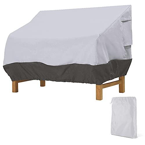 Housse de protection pour banc de jardin 2, 3, 4 places, housse de protection coupe-vent Oxford résistante aux UV pour banc de jardin canapé de jardin (noir gris, 224 x 83 x 84 cm)