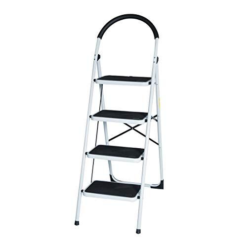 Good Life USA New EN131 Folding 4 Step Ladder Home Depot Lightweight 300 lb Capacity Anti-Slip