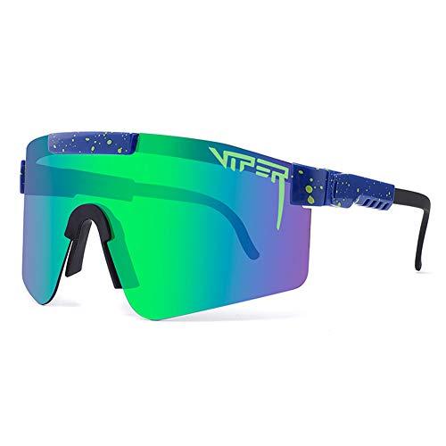 CWWHY Sport Sonnenbrille, Polarisierte Sonnenbrille, Winddichte Staubdichte Brille Für Den Außenbereich, UV400 Verspiegelte Linse, Für Frauen Und Männer Alle Arten Von Outdoor-Aktivitäten,C12