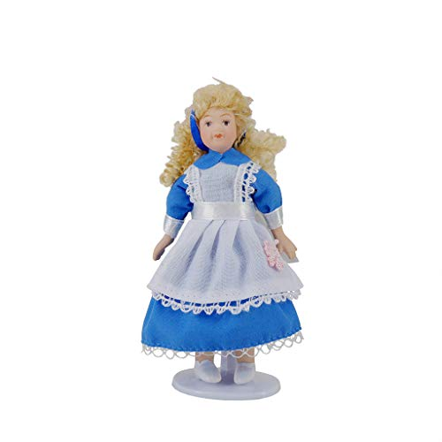6Wcveuebuc 1:12 casa de muñecas hermosa miniatura de porcelana modelo Little Pretty Girls Boys