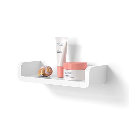 Laigoo Adhesive Floating Shelf Wall Shelf Non-Drilling, U Bathroom Organizer Display Picture Ledge Shelf for Home Decor/Kitchen/Bathroom Storage-LPM02(M)
