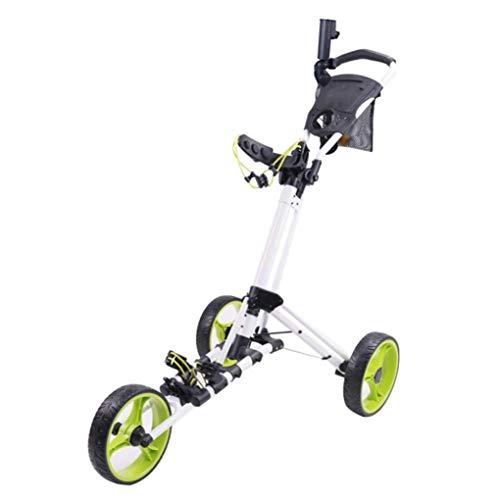 KUANDARGG Golf Push Cart, Golf Cart Für Golfschläger, Golf Pull Cart Für Golftasche, Golf Push Carts Mit 3...