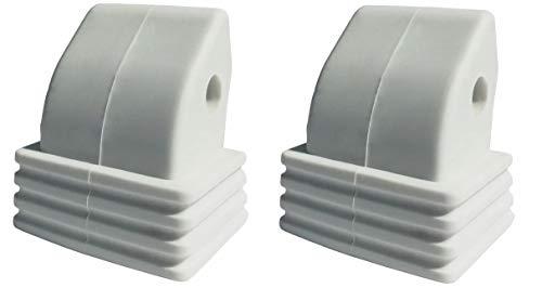 RAVEN Inliner-Bremse Bremsstopper Bremsklotz aus TPR für Inlineskates Pulse, Celeste, Angel, Sensor, Spirit, Expert, Breathe, Vella/Croxer Dahlia (weiß)