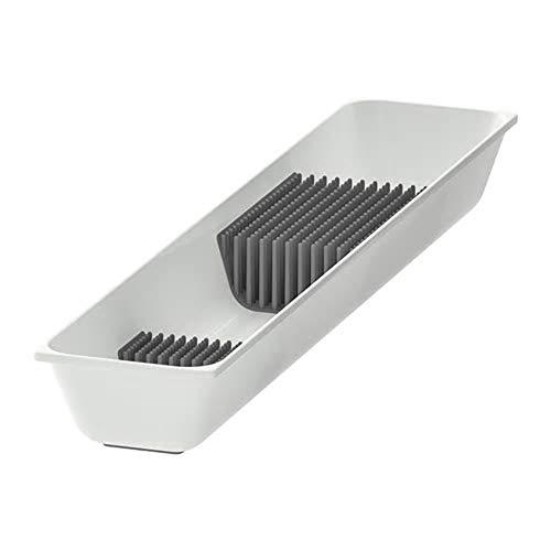 Messerablage weiß 10 x 50 cm, Material: ABS-Kunststoff, PU-Kunststoff, montierte Größe: Breite: 10 cm, Tiefe: 50 cm, Höhe: 5,4 cm