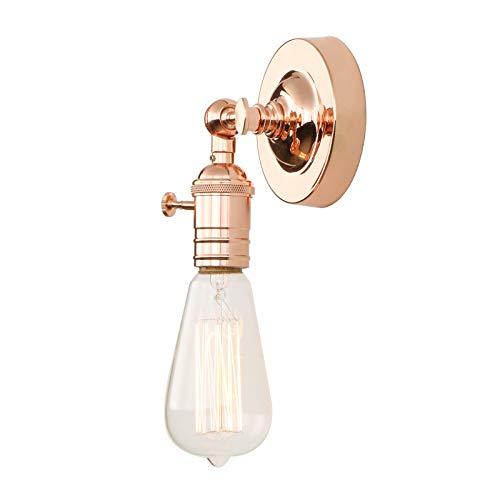 Phansthy Vintage Industrie Loft-Wandlampen Wandbeleuchtung Wandleuchten Antik Deko Design Wandbeleuchtung Küchenwandleuchte (Kupfer Farbe)