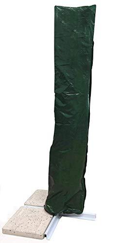 MICHELE SOGARI Copertura per ombrellone 3x4 a Braccio decentrato - Sacca Protettiva Idrorepellente (Verde plastificato)