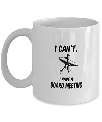 Surfing Gift Coffee Mug I Have A Board Meeting Surfer Graphic Surf Board Clipart