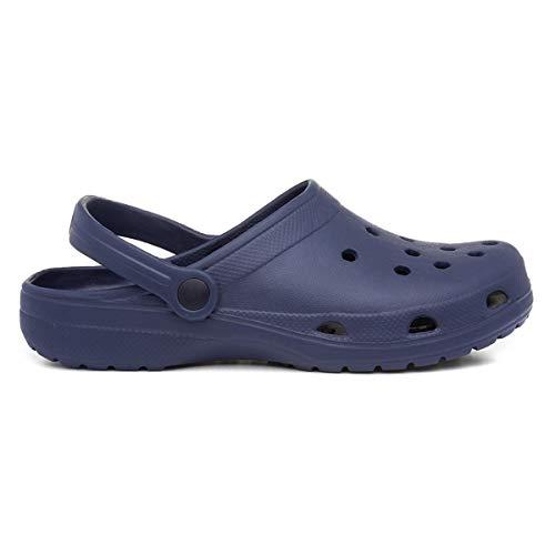 Zone - Adults Eva Navy Slip On Clog Sandal - Size 9 UK - Blue