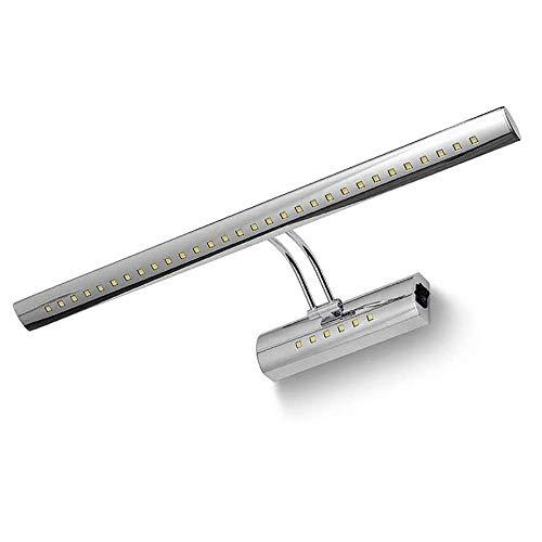 Spiegel licht vooraan beeld make-up muurverlichting roestvrij staal badkamer lamp spiegel hoek verstelbaar (wit licht) (grootte: 5 W (40 cm))