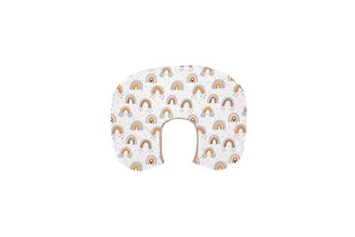 ULLENBOOM  Funda para almohadas de lactancia pequeñas (57x44 cm) Arco iris (Fabricada en UE) - Funda para dormir de lado, 100% algodón certificado ÖkoTex