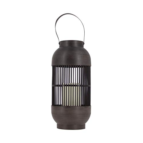 Xanlite LTSOF02 Solar Lantern'Bird Cage' Rattan Effect with Built-in LED Candle