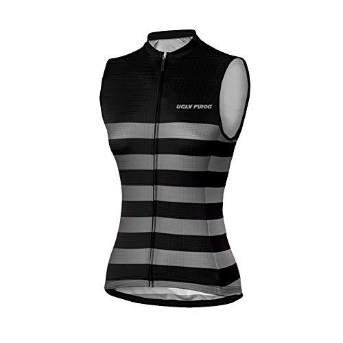Uglyfrog 2019-2021 Radsport Sommer Weste Damen Ärmellos Radsport Trikots & Shirts Bike Wear Sport Top Bekleidung