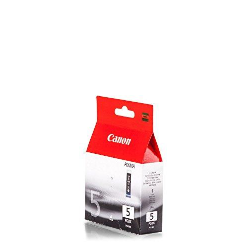 Original Canon 0628B001 / PGI-5BK Tinte (schwarz, ca. 800 Seiten, Inhalt 26 ml) für Pixma IP 3300, IP 3500, IP 4200, IP 4300, IP 4500, IP 5200, IP 5300, IX 4000, IX 5000, MP 500, MP 510, MP 520, MP 530, MP 600, MP 610, MP 800, MP 810, MP 830, MP 970, MX 700, MX 850