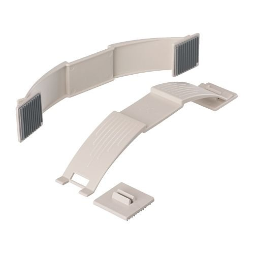 IKEA PATRULL Tapis - Butée de porte, blanc/lot de 2