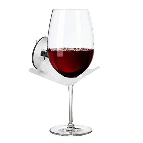 Botellero de Vino, Organizador de titular de la copa de vino de la cerveza portátil para la ducha de baño Tenedor de la copa de succión de la bebida para el vino de la cerveza de la cerveza DISPEN