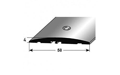 **TOPSELLER** Übergangsprofil / Übergangsschiene / 58 mm, Typ: 08 (Aluminium eloxiert, mittig gebohrt), Farbe: SILBER