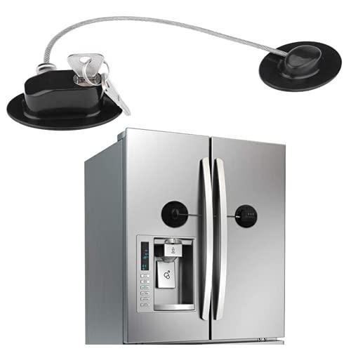 Huai1988 Cerradura del Refrigerador, Cerradura de la Puerta del Bebé del Refrigerador Seguridad para niños Cerradura Multifuncional Herramienta de Seguridad de la Ventana para la puerta del Gabinete