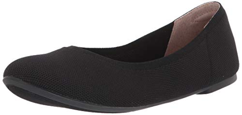 Amazon Essentials Women's Ballet Flat, Black Knit, 7.5 B US
