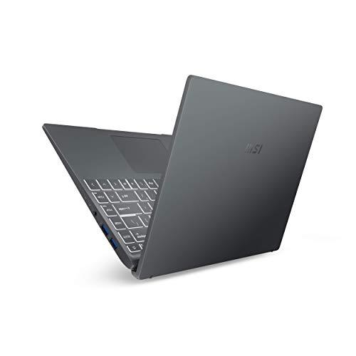 MSI Modern 14 B11SB-008ES - Ordenador portátil de 14' FullHD (Intel Core i7-1165G7, 16 GB RAM, 1 TB SSD, NVIDIA GeForce MX450, Windows 10 Home Plus) Carbon gray - Teclado QWERTY Español