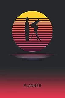 Planner: Saxophone 2 Year Weekly Planning Organizer | 2020 - 2021  | Retro Vintage Vaporwave Sunset Cover | January 20 - December 21 | Writing ... | Plan Days, Set Goals & Get Stuff Done