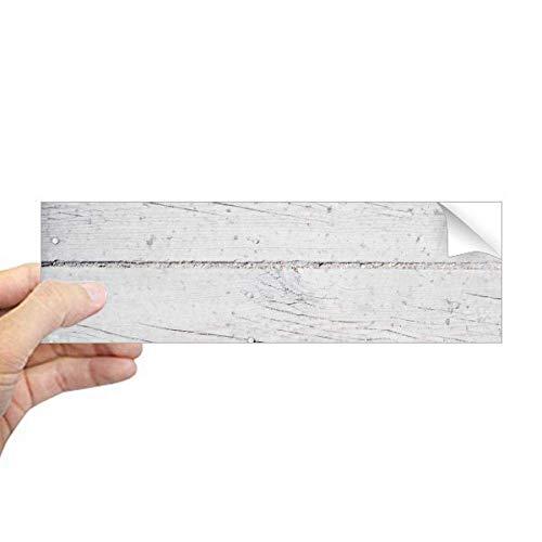 DIYthinker witte houten vloer ruw behang textuur rechthoek bumper Sticker Notebook Window Decal