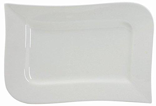 Unbekannt Ambition Assiette Rectangulaire 26 cm, Porcelaine, Blanc, 26 x 17,5 x 2,5 cm