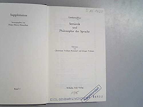 Supplemente, Band 4: Semiotik und Philosophie der Sprache
