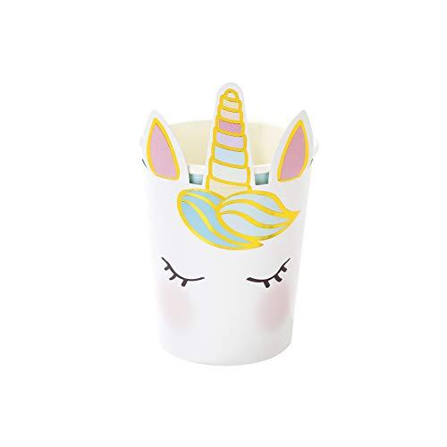 Talking Tables Unicorn-cup-Face Eenhoorn kartonnen bekers (8-pack), papier