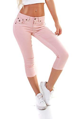 OSAB-Fashion 4951 Damen Jeans Hose Capri-Style 7/8-Länge Skinny Slimfit Low-Waist